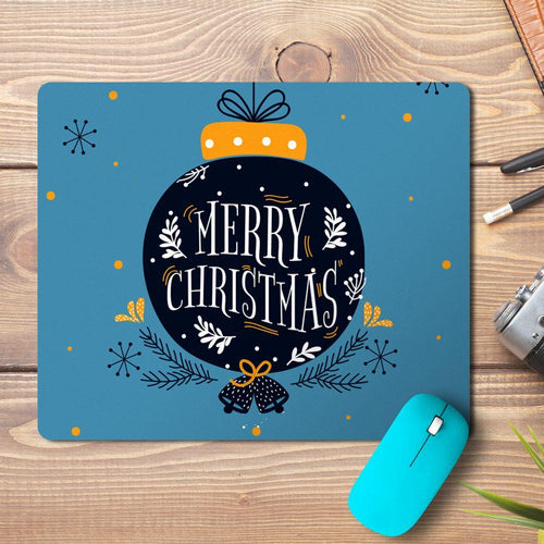 Merry Christmas Ball Wish Design Mousepad