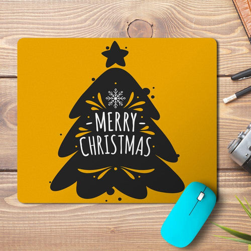 Merry Christmas Tree Outline Design Mousepad