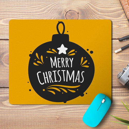 Merry Christmas Ball Outline Design Mousepad