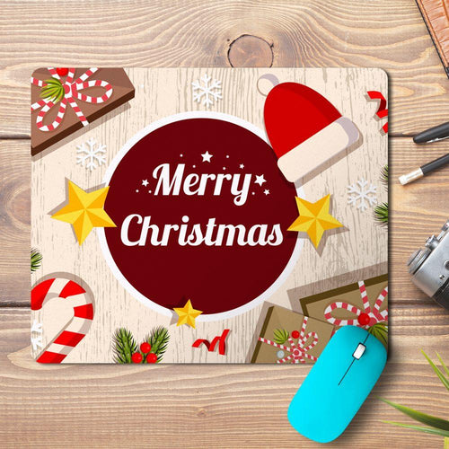 Merry Christmas Table Design Mousepad