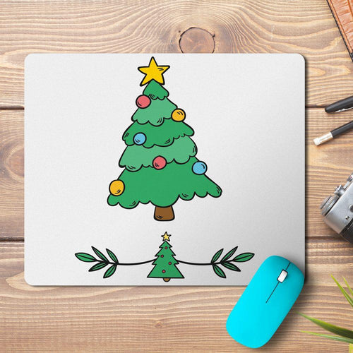 Christmas Tree Design Mousepad - PrintNawab