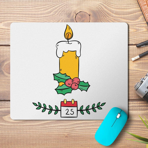 Christmas Candle Design Mousepad - PrintNawab