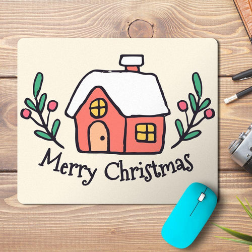Christmas House Design Mousepad - PrintNawab
