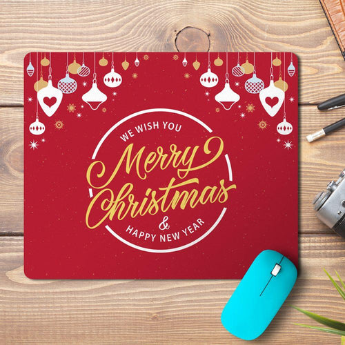 Merry Christmas Lanterns Design Mousepad