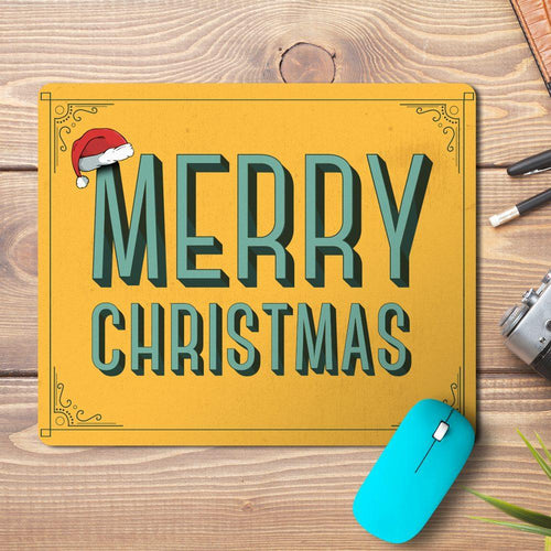 Merry Christmas Typo Design Mousepad