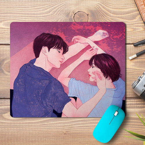 Love Couple Design Mousepad