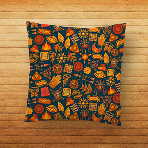 Ethnic Element Design Printed Cushion Cover Pillow - PrintNawab