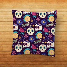 Load image into Gallery viewer, Day of the Dead Abstract Printed Cushion - PrintNawab