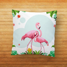 Load image into Gallery viewer, Flamingo Couple Printed Cushion - PrintNawab