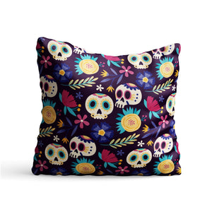Day of the Dead Abstract Printed Cushion - PrintNawab