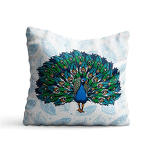 Load image into Gallery viewer, Ethnic Peacock Printed Cushion - PrintNawab