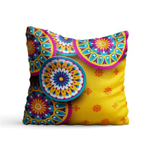 Load image into Gallery viewer, Ethnic Circles Printed Cushion - PrintNawab