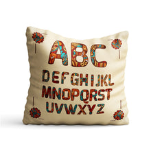 Load image into Gallery viewer, Ethnic Alphabets Printed Cushion - PrintNawab