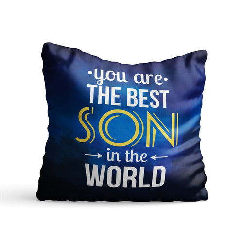 Best Son in World Quote Printed Cushion - PrintNawab