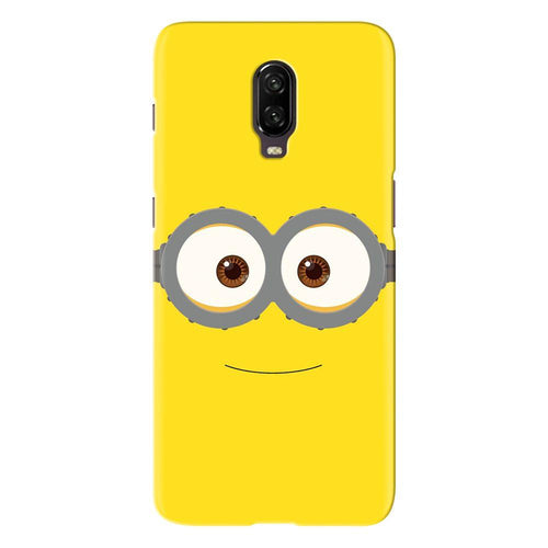 Despicable Minions Face Design Cover - oneplus 6t - PrintNawab