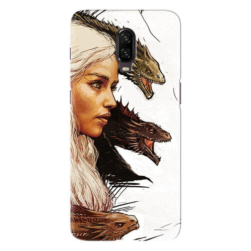 Game of Thrones Daenerys with Dragons Design Cover - oneplus 7 - PrintNawab