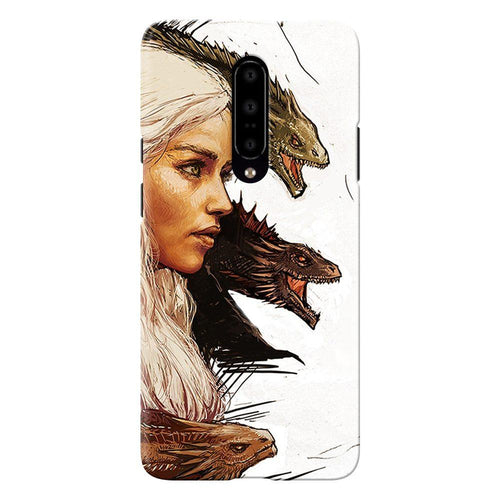 Game of Thrones Daenerys with Dragons Design Cover - oneplus 7 pro- PrintNawab