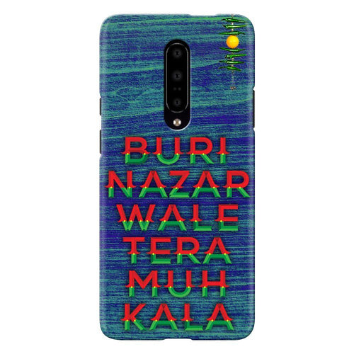 Buri Nazar Blue Quote Design Cover - oneplus 7 pro- PrintNawab