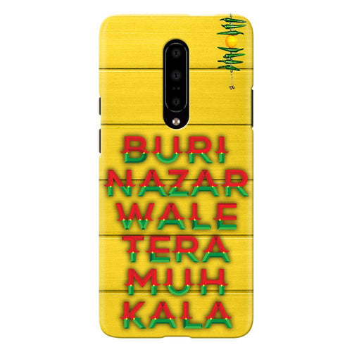 Buri Nazar Yellow Quote Design Cover - oneplus 7 pro- PrintNawab