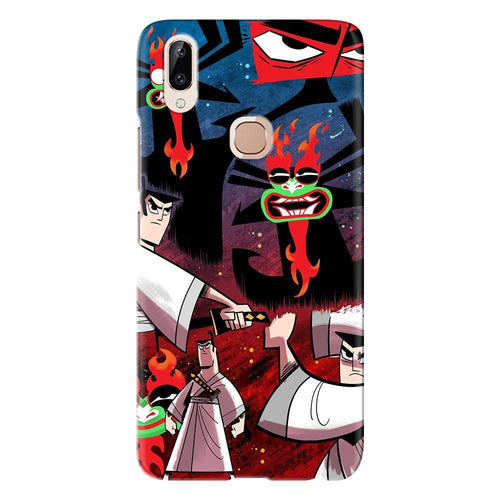 Cartoon Samurai Collage Design Cover - vivo y83 pro - PrintNawab