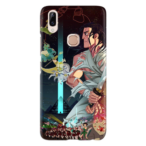 Cartoon Samurai Abstract Design Cover - vivo y83 pro - PrintNawab