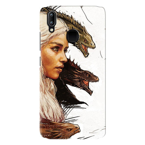 Game of Thrones Daenerys with Dragons Design Cover - vivo y95- PrintNawab
