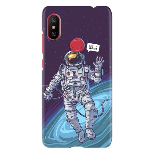 Galaxy Cosmonaut Design Cover - redmi note 6 - PrintNawab