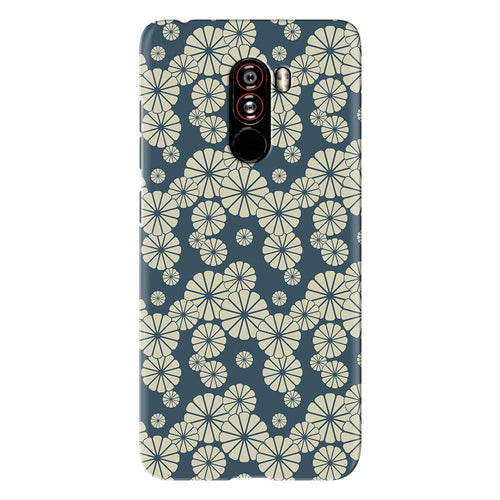 Japanese Flower Pattern Cover - poco f1 - PrintNawab