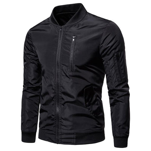 Fashion Lapel Collar Plain Baseball Jacket Coat