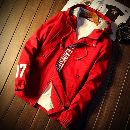Text Hooded Jacket