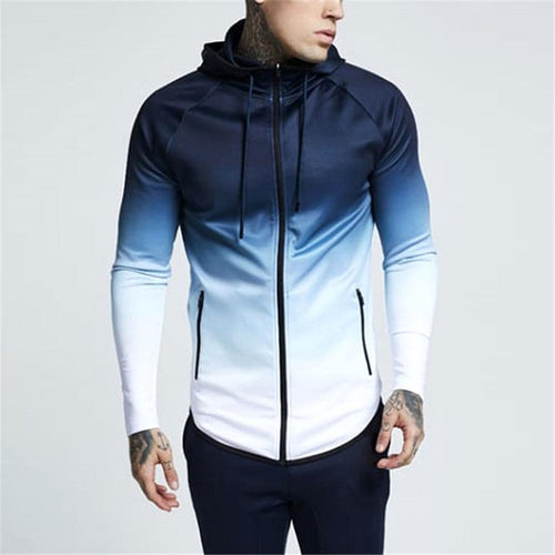 Casual Daily Bodybuilding Zipper Coat