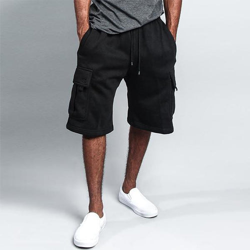 Men's Casual Fashion Solid Color Big Pocket Shorts