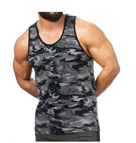 Fashion Camouflage Sports Fitness Cotton Vest shirts