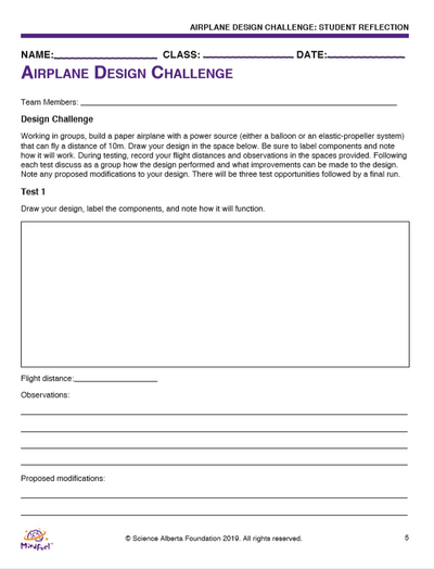 Airplane Design Challenge