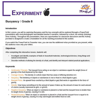 Buoyancy Bundle (Lesson + Activity)