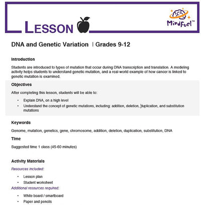 DNA and Genetic Variation