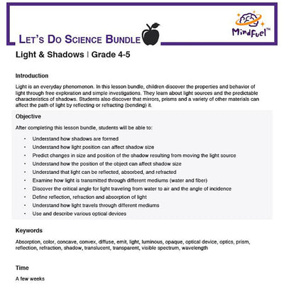 Light and Shadows - Let's Do Science Bundle