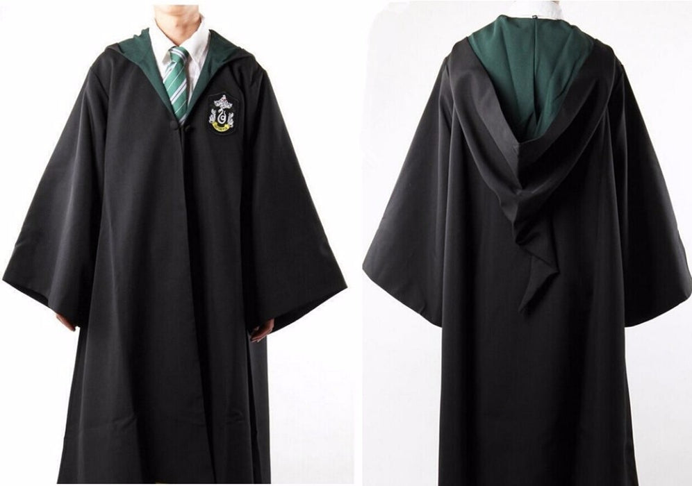 Cosplay Costume Robe Cloak with Tie Scarf Ravenclaw Gryffindor Hufflepuff Slythe