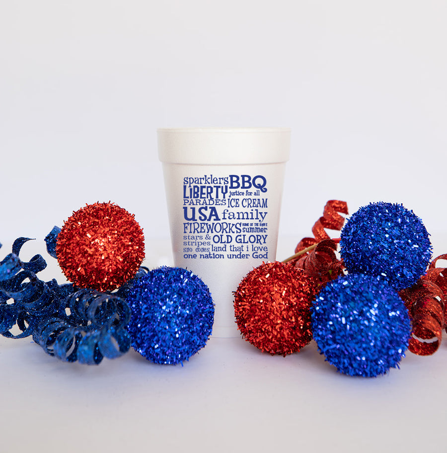 25 Pack - 4th of July Blue Patriotic
