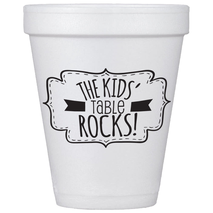Kids' Table Rocks Cups and Lids