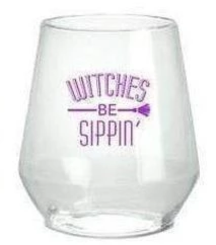 Witches Be Sippin' Plastic Wine Glasses