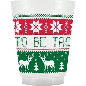Tacky Sweater Frosted Plastic Cups