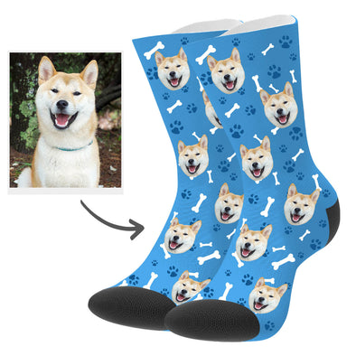 Personalized Dog Photo Socks