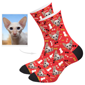 Customized Cat Photo Socks