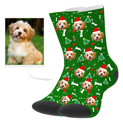 Custom Christmas Pup Socks