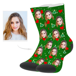 Custom Christmas Photo Socks