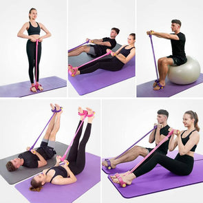 Fitness Artifact Sit-up Exercise Equipment Home Yoga Sports Elastic Pull Rope