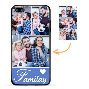 Custom Family Photo Protective iPhone Case Three Pictures