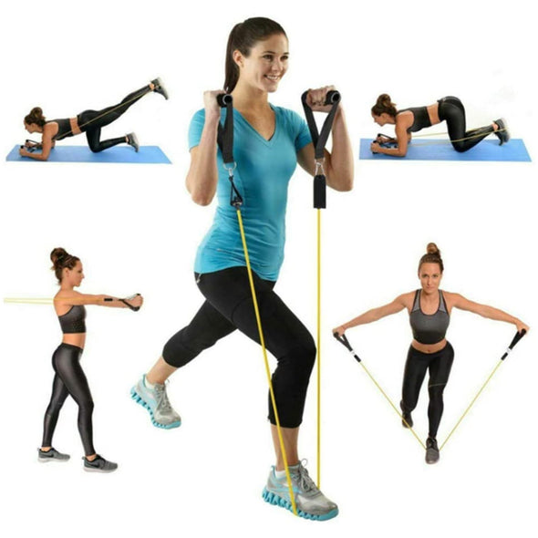 Resistance Bands Set Portable Chest Expander Puller Latex Elastic Exercise Fitness Artifact Muscle Training Rope