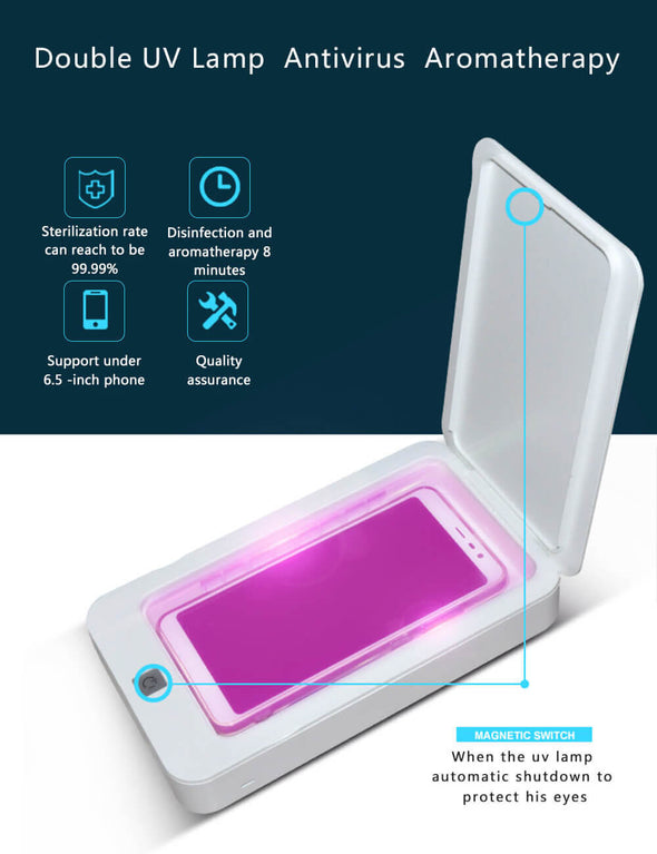 UV Light Phone Cleaner with USB Charging Aromatherapy Function Phone Disinfector